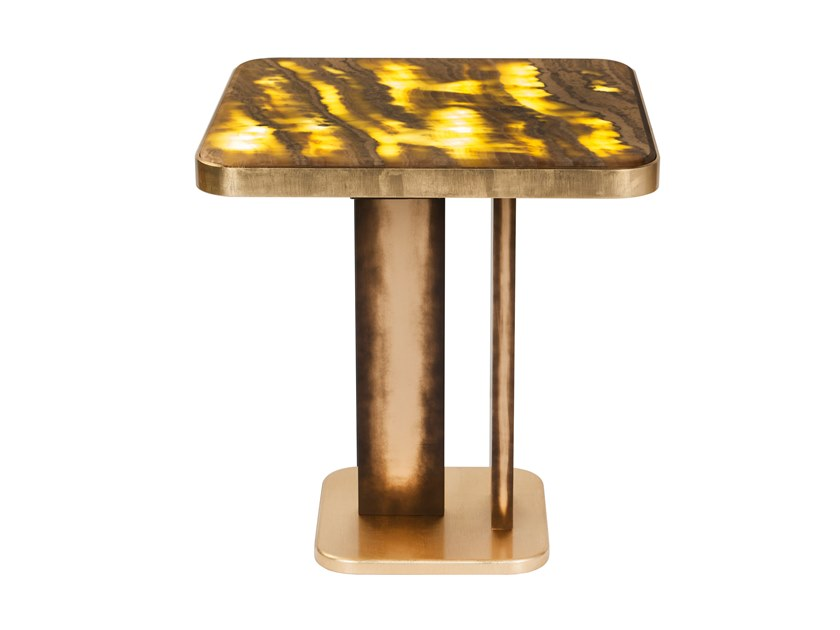 Square onyx table with light DALLAS by Green Apple