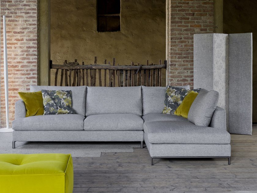 4 seater fabric sofa with chaise longue DALLAS | Sofa with chaise longue by Flexstyle