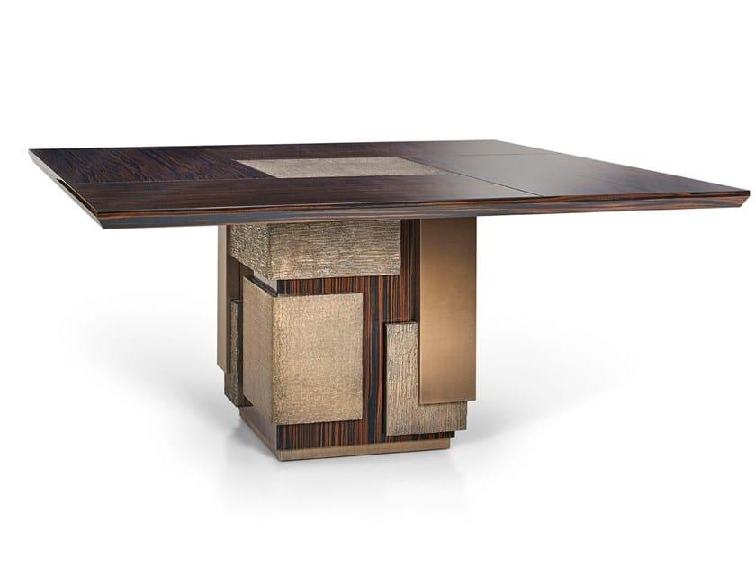 Square ebony table DALTON   Square table by Sicis