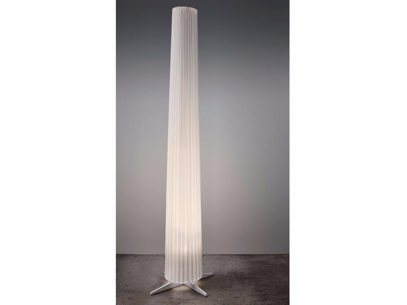 LED fabric floor lamp DAMA BIANCA by Olev