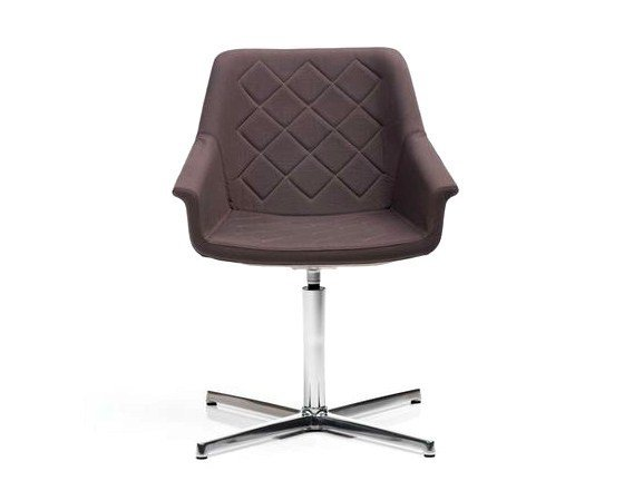 Fabric chair with 4-spoke base with armrests DAMA   Chair with 4-spoke base by Diemme