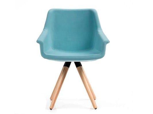 Upholstered trestle-based chair DAMA | Trestle-based chair by Diemme