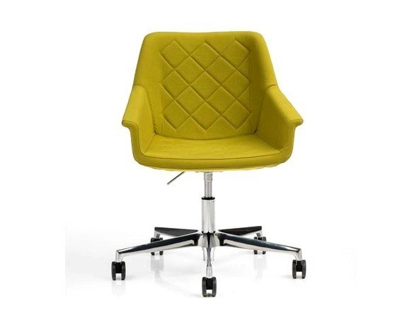 Task chair with 5-Spoke base with casters DAMA | Task chair with 5-Spoke base by Diemme