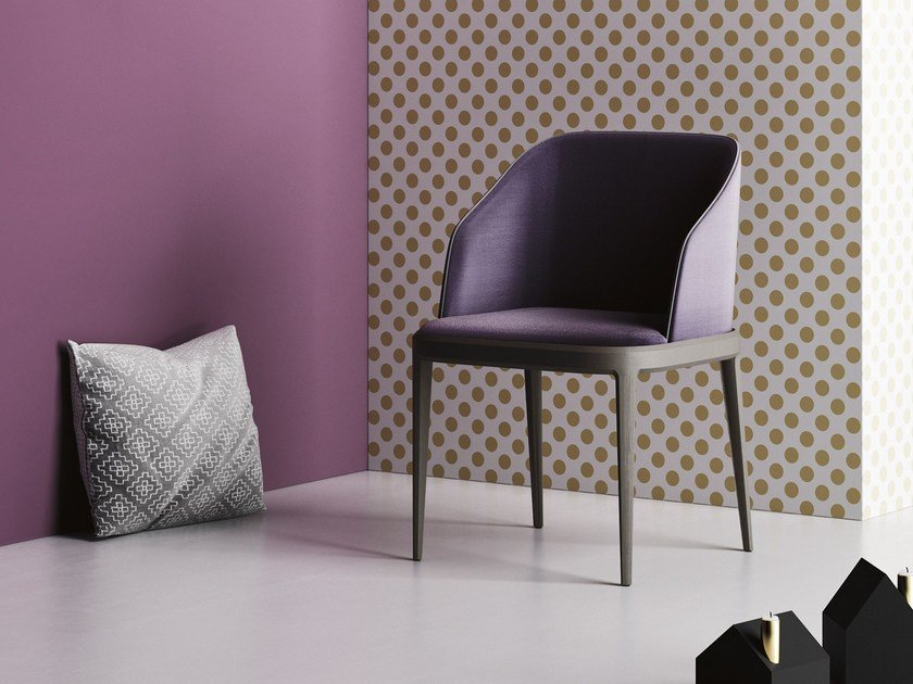 Upholstered fabric restaurant chair with armrests DAMBLÈ P by Imperial Line