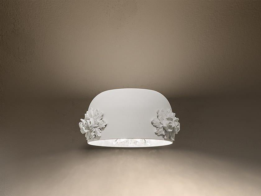 Applique a luce diretta e indiretta in alluminio DAME A2 by Masiero