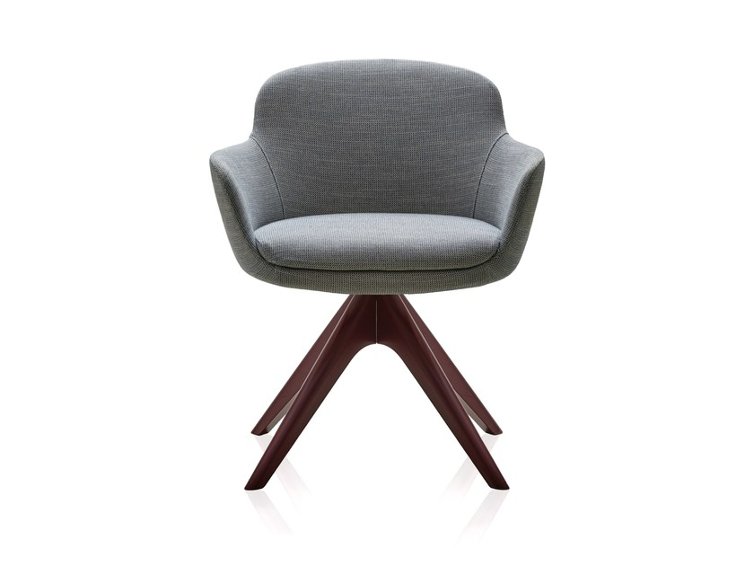 Swivel fabric easy chair with armrests DANAE | Swivel easy chair by Papadatos