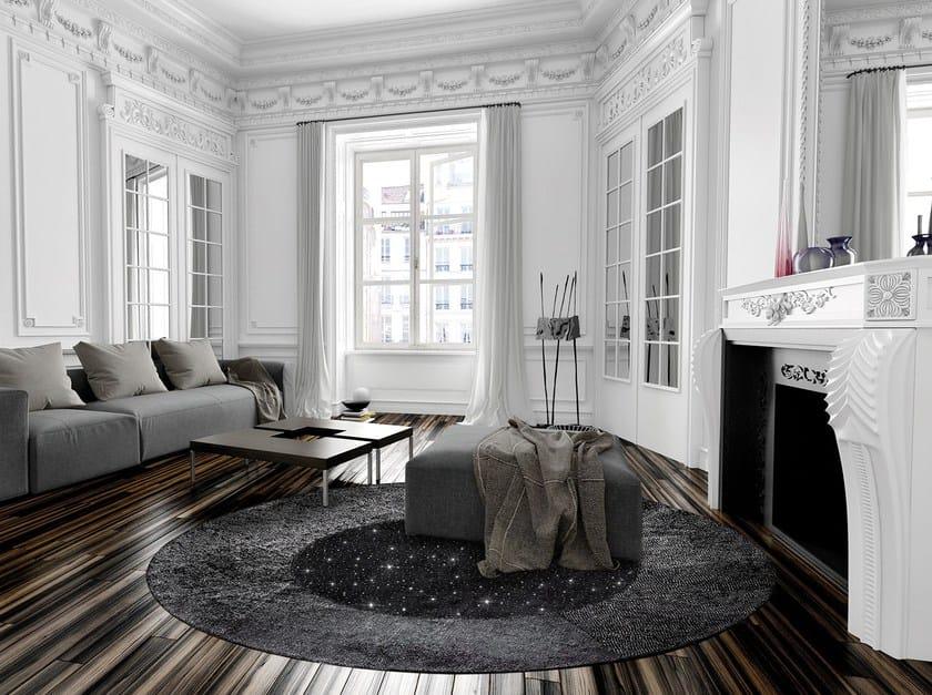Round hemp rug GIOTTO LUREX by Italy Dream Design