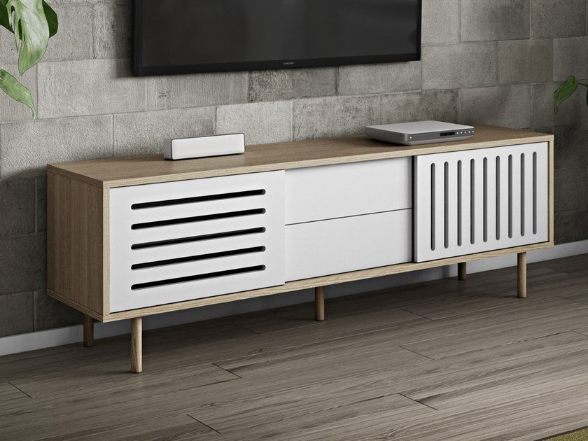 Sideboard with drawers DANN STRIPES | Sideboard with drawers by TemaHome