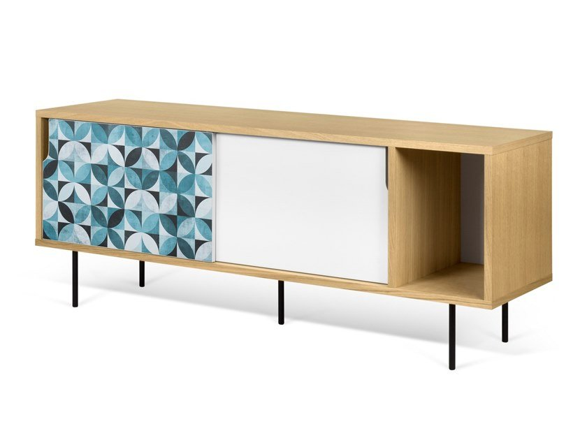 Sideboard with sliding doors DANN TILES | Sideboard by TemaHome