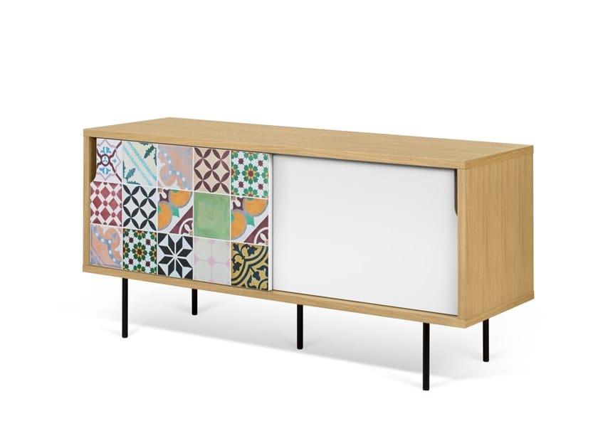 Sideboard with sliding doors DANN TILES | Sideboard with sliding doors by TemaHome