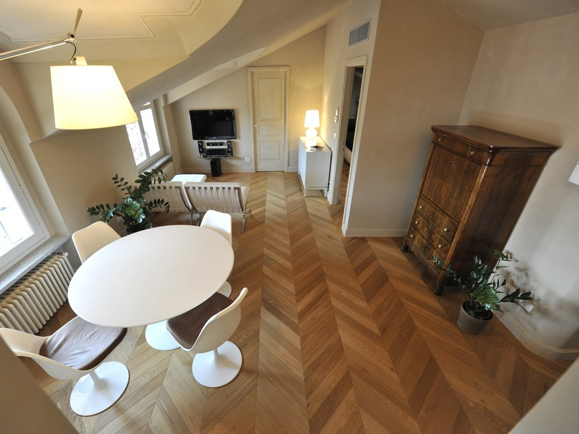 Parquet brushed solid wood in European Oak DANUBIO | Solid wood parquet by Alma by Giorio