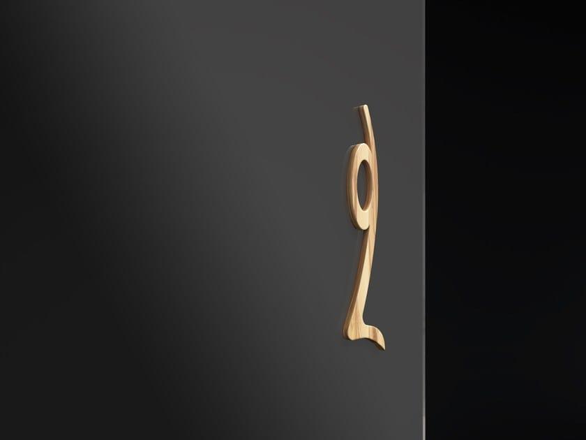 Wooden glass door handle DAPHNE by FOA