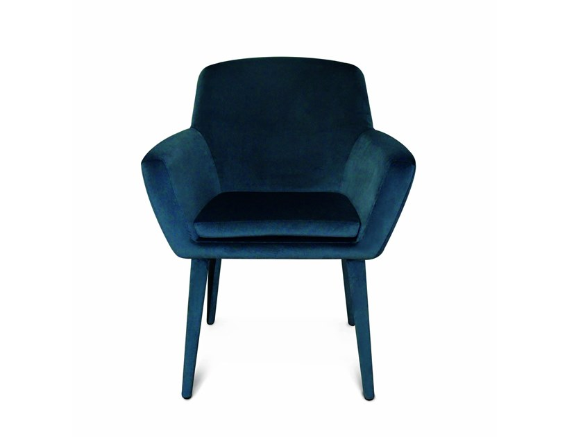 Fabric chair with armrests DARE by Conceito Casa