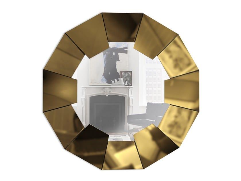 Round framed wall-mounted mirror DARIAN GOLD | Mirror by LUXXU