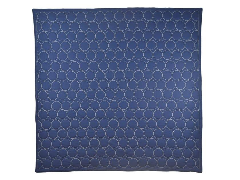 Trapunta in cotone DARK BLUE & WHITE CIRCLES | Trapunta by KHEM Studios