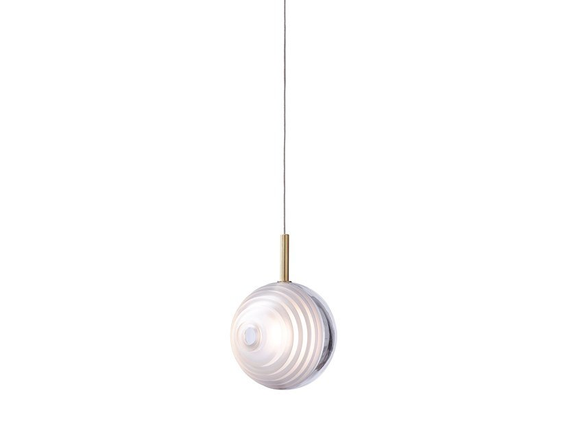 Blown glass pendant lamp DARK & BRIGHT STAR by BOMMA