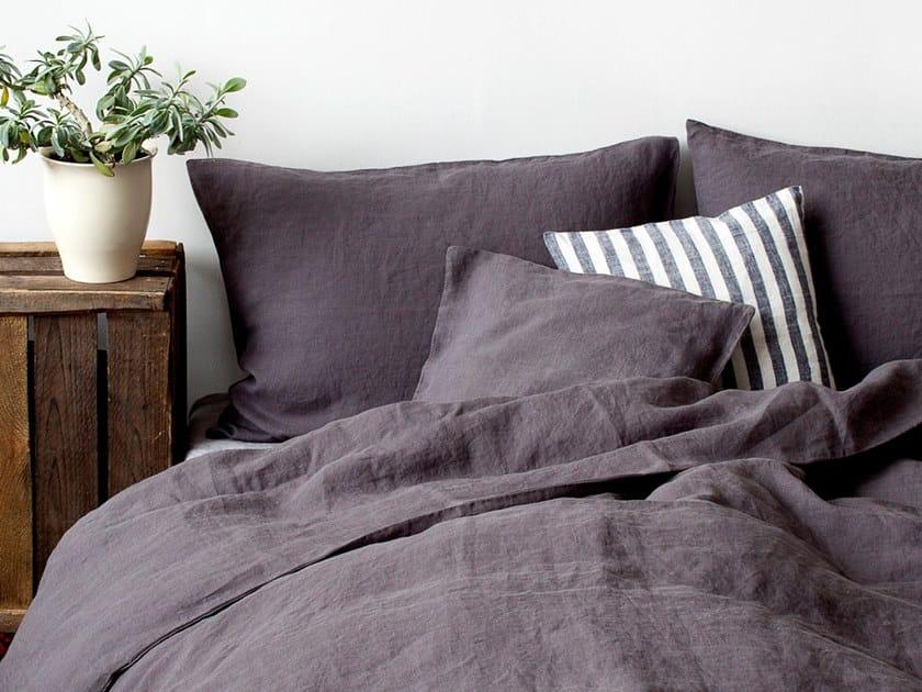 Washed linen Bed Set DARK GREY | Bedding set by Linen Tales