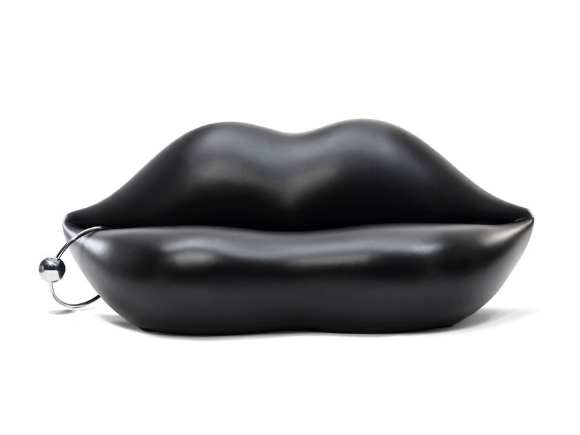 Polyurethane sofa DARK LADY by Gufram