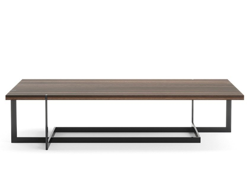 Rectangular wood veneer coffee table for living room DARLING by PRADDY