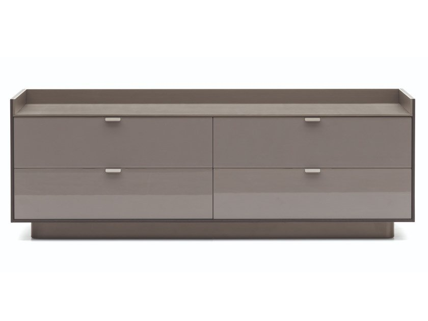 Lacquered wooden chest of drawers DARREN | Chest of drawers by Minotti