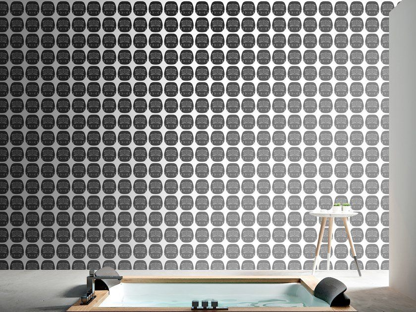 Motif vinyl wallpaper DARUMA by Baboon