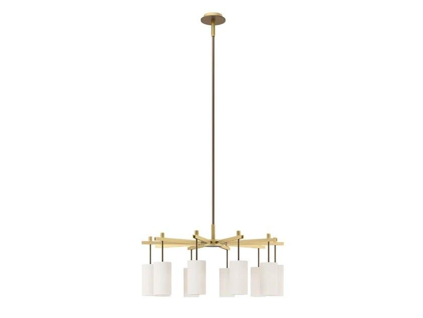 Lampada a sospensione a luce diretta in ottone ZURICH | Lampada a sospensione by FRATO