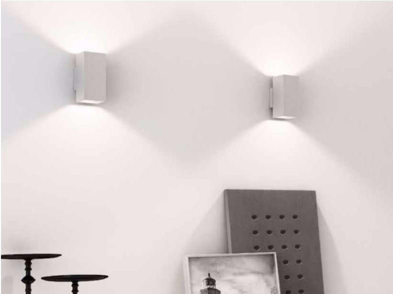 Plafoniere Led A Soffitto Moderno Dimmerabile : Lampada da parete a led luce diretta e indiretta con dimmer dau