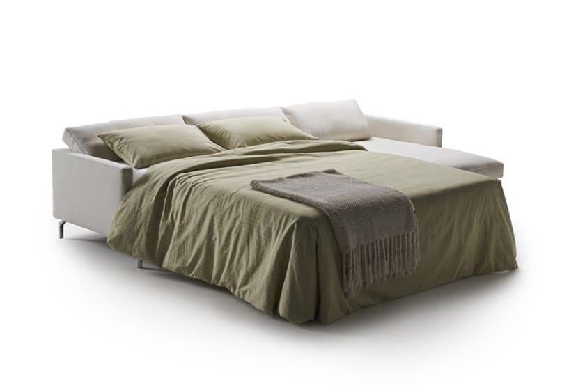 Divano letto in tessuto a 3 posti con chaise longue DAVE | Divano ...