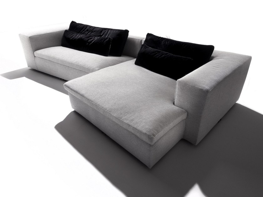 Sectional fabric sofa with chaise longue DAVID by ERBA ITALIA