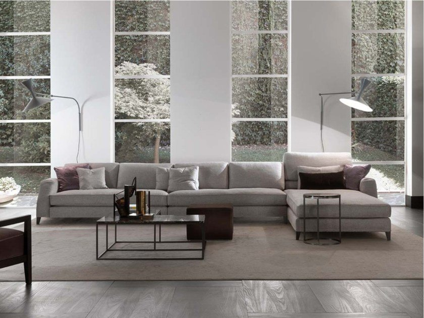Sectional upholstered fabric sofa DAVIS CLASS | Fabric sofa by Frigerio Salotti