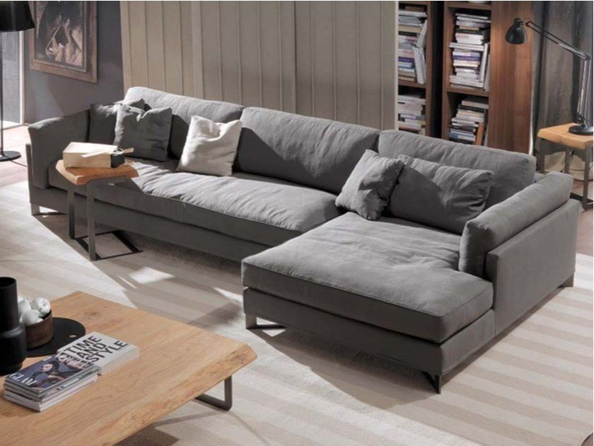 Sectional fabric sofa DAVIS IN | Fabric sofa by Frigerio Salotti