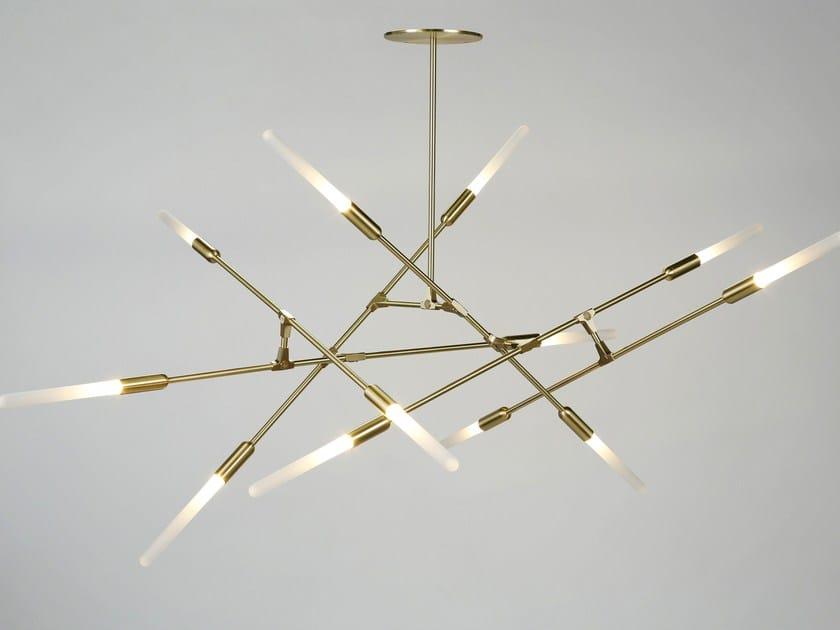 LED direct light brass pendant lamp DAWN by Matthew McCormick