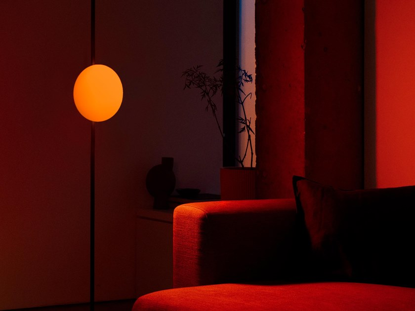 LED polycarbonate floor lamp DAWN TO DUSK | Floor lamp by Haberdashery