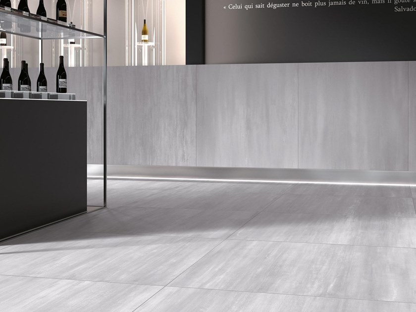 Porcelain stoneware wall/floor tiles with metal effect DAX by NOVOCERAM
