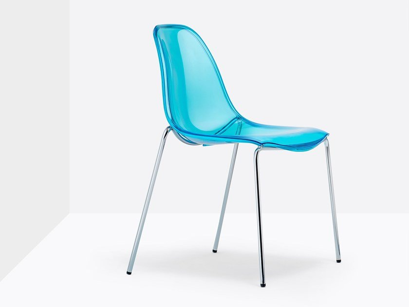 Polycarbonate chair DAY DREAM 405 by Pedrali