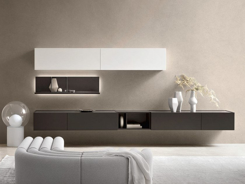 Sectional lacquered storage wall DAY MOOVE | Composition M103 by ZANETTE