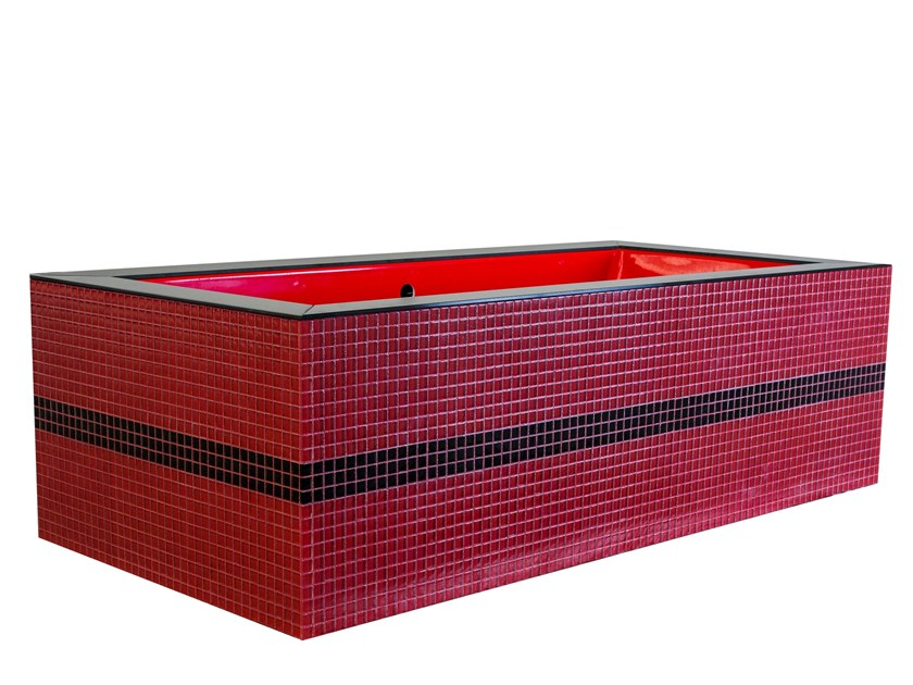 Freestanding rectangular bathtub DAYDREAMER - RED by Saikallys