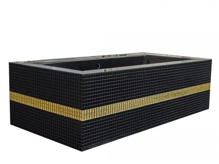 Freestanding rectangular bathtub DAYDREAMER - BLACK by Saikallys