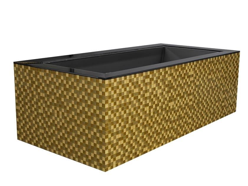 Freestanding rectangular bathtub DAYDREAMER - GOLD MIX by Saikallys