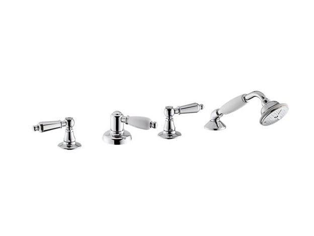 4 hole bathtub set with diverter with hand shower DAYTIME STYLE | Bathtub set by newform