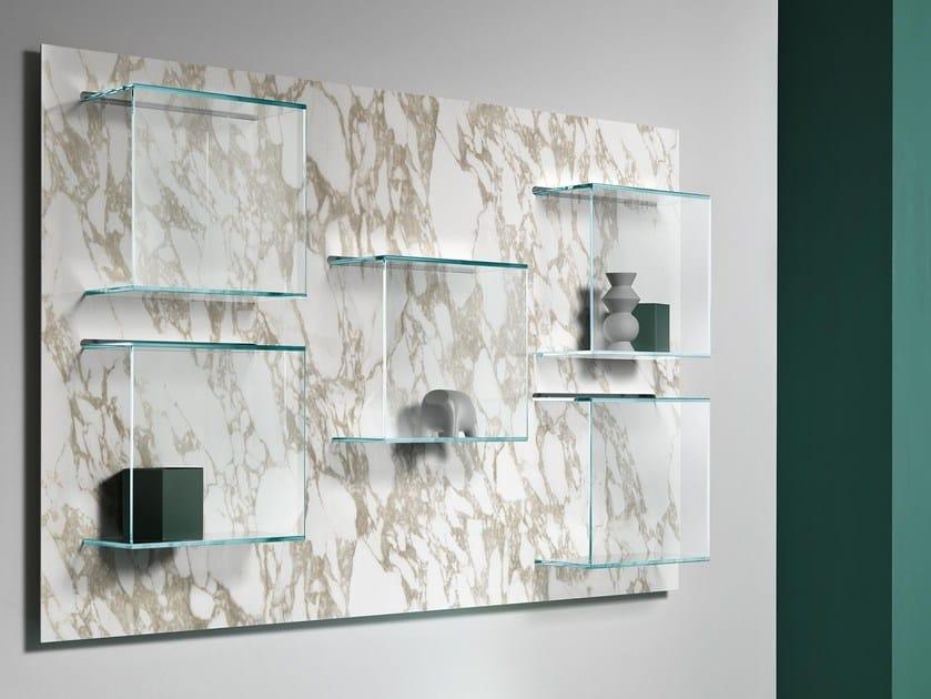 Wall-mounted ceramic bookcase DAZIBAO CERAMIC by Tonelli Design