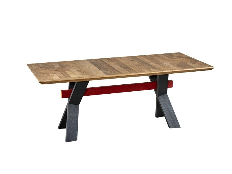 Rectangular reclaimed wood dining table DB004124 by Dialma Brown