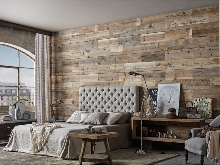 Indoor reclaimed wood wall tiles DB004148 | Wall tiles by Dialma Brown