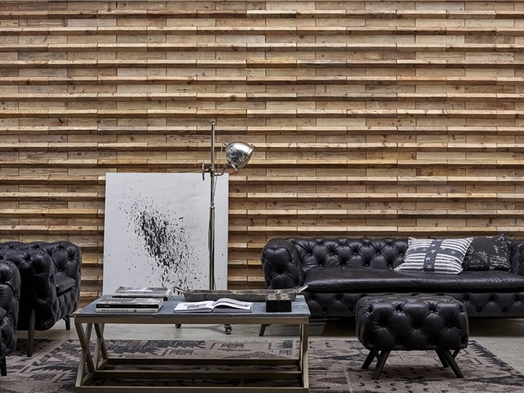 Indoor wooden wall tiles DB004149 | Wall tiles by Dialma Brown