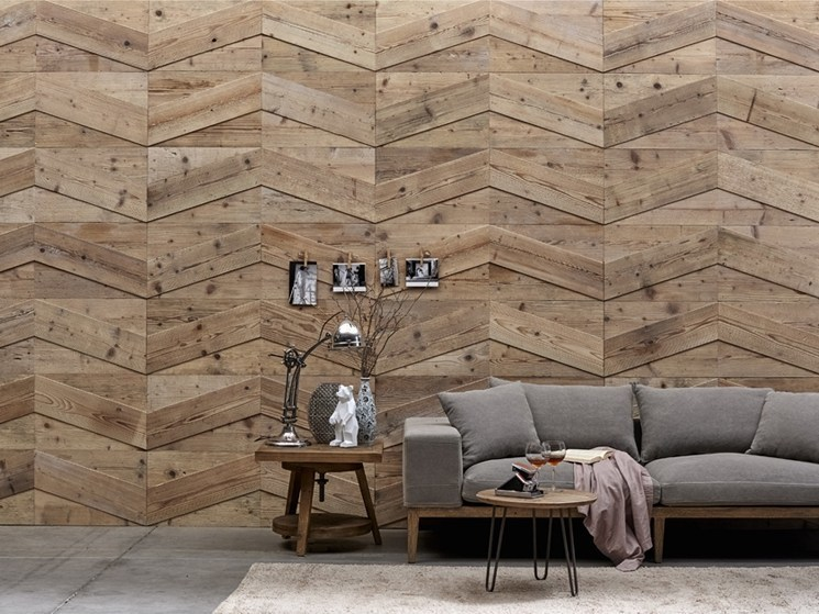 Indoor wooden wall tiles DB004150 | Wall tiles by Dialma Brown