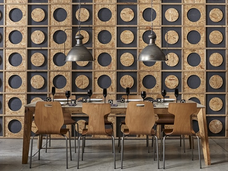 Indoor reclaimed wood wall tiles DB004152 | Wall tiles by Dialma Brown