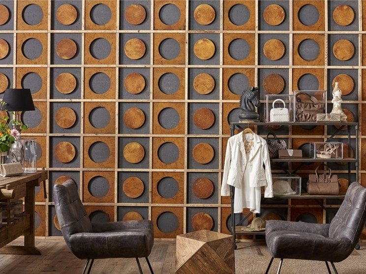 Indoor reclaimed wood wall tiles DB004153 | Wall tiles by Dialma Brown
