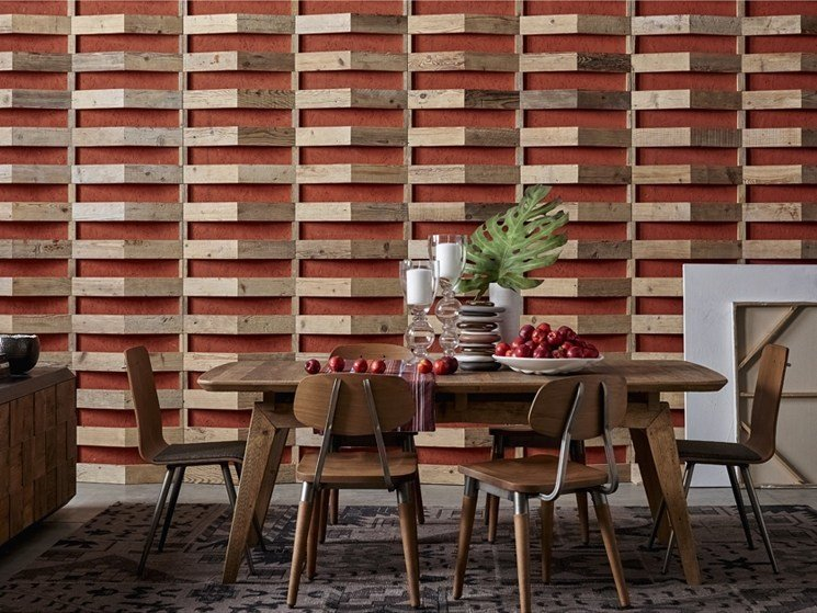 Indoor reclaimed wood wall tiles DB004159 | Wall tiles by Dialma Brown