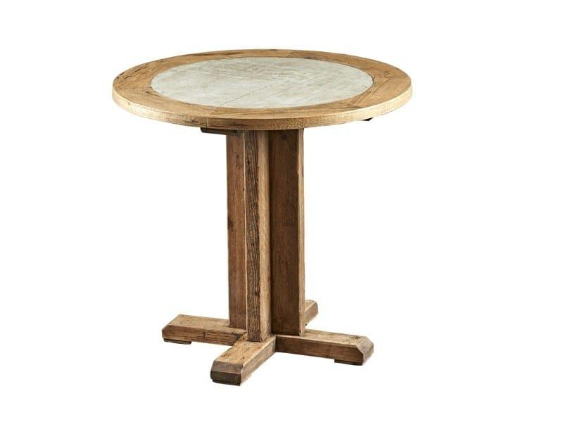 Tavolo da pranzo rotondo in legno di recupero con base a 4 razze DB004183 by Dialma Brown