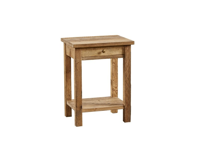 Reclaimed wood bedside table with drawers DB004347 | Bedside table by Dialma Brown
